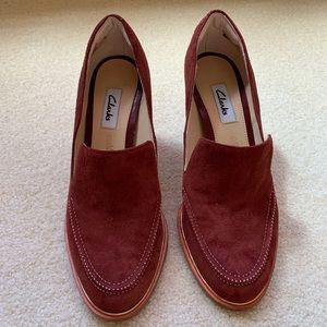 Clark Heels Rust Color (Size US 6.5/Eu 37) NWT